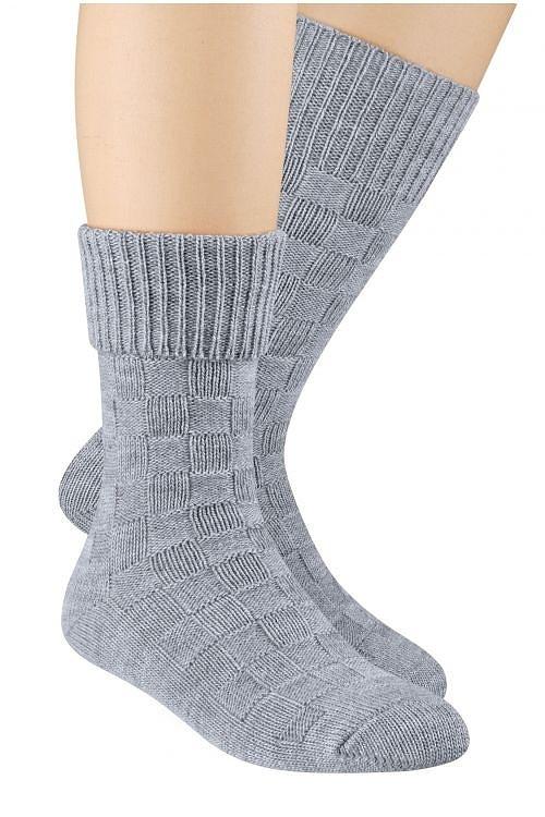 Vlněné ponožky Steven art.093 Žlutá 38-40