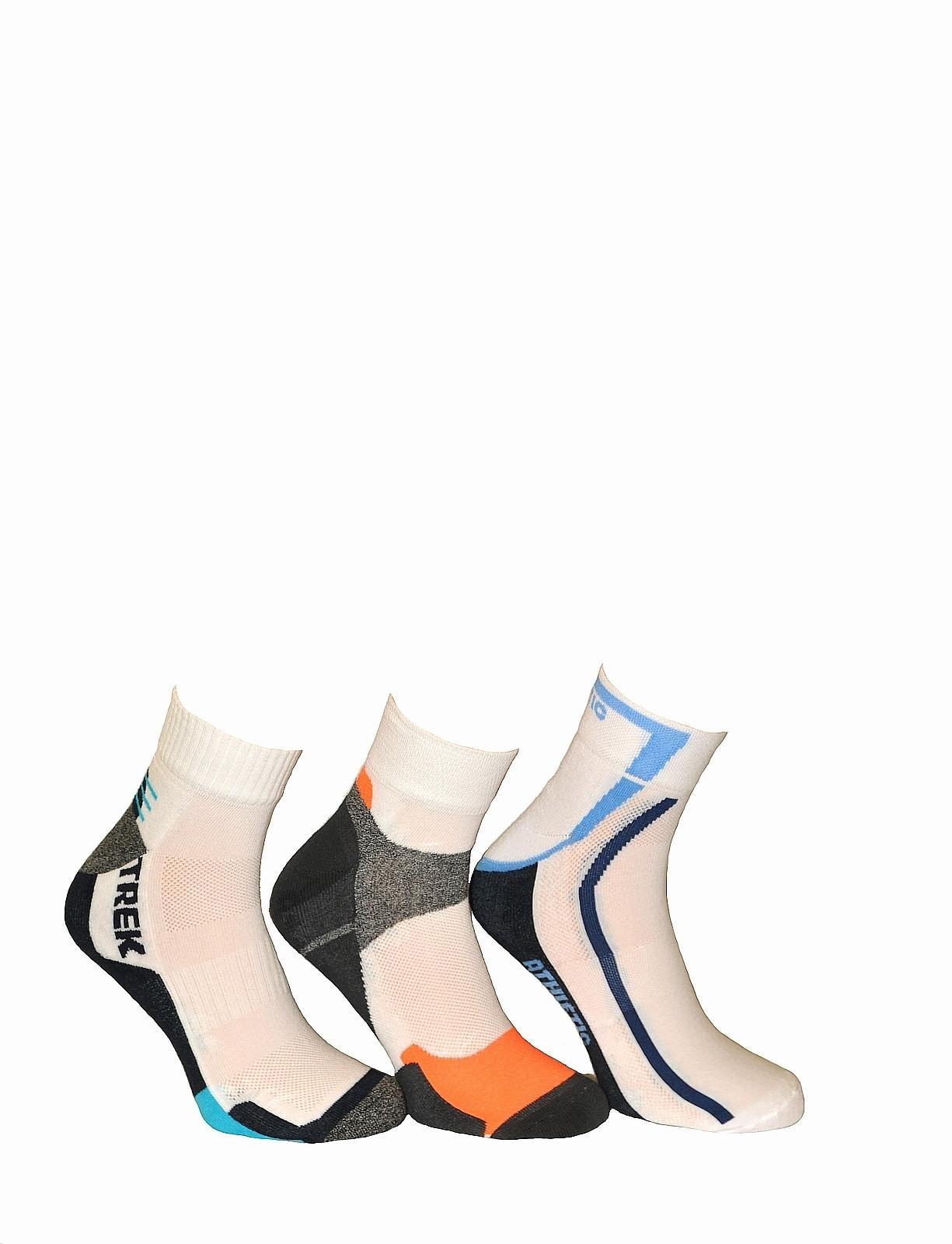 Pánské ponožky Bratex On Sport 672 bílá 44/46