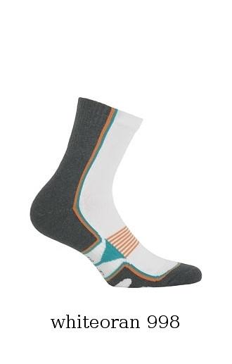 cb55e7ad25c Ponožky Wola Sportive Frotte pánské vzorek W 941N6 AG+ Barva  bílá-jeans