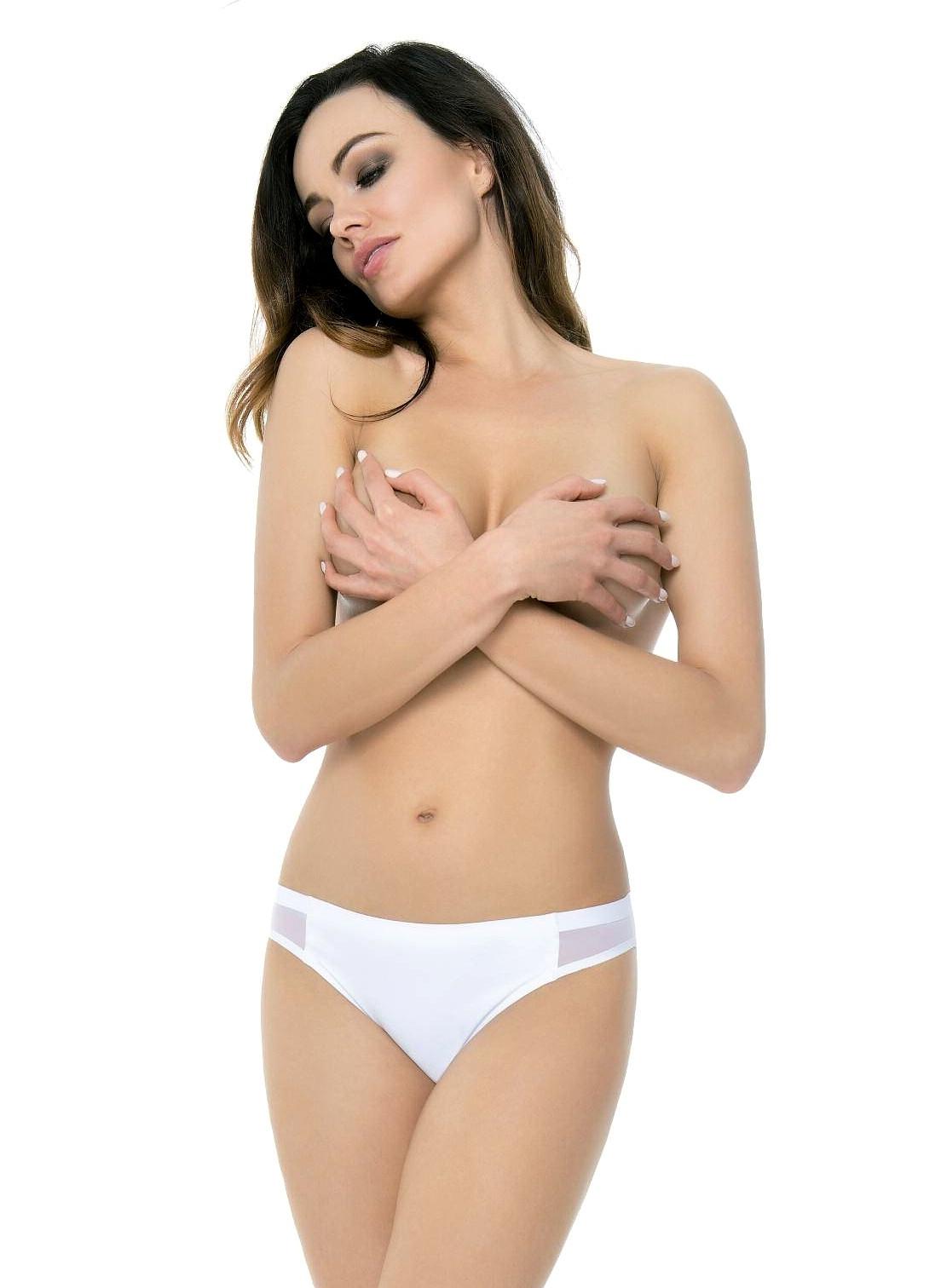 Klasické kalhotky Julimex Bikini Panty bílá XL