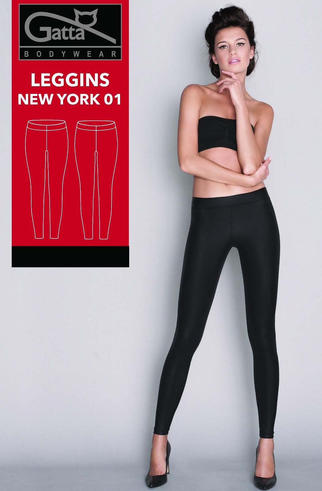 Dámske legíny Gatta New York 01 4611S čierna / čierna L