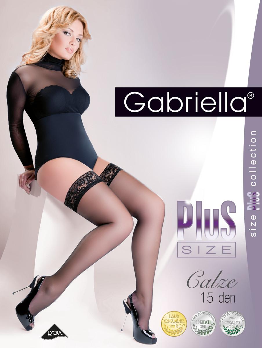 Punčochy Gabriella Plus Size 164 5-6 15 den Barva: černá, Velikost: 5/6-XL/XXL