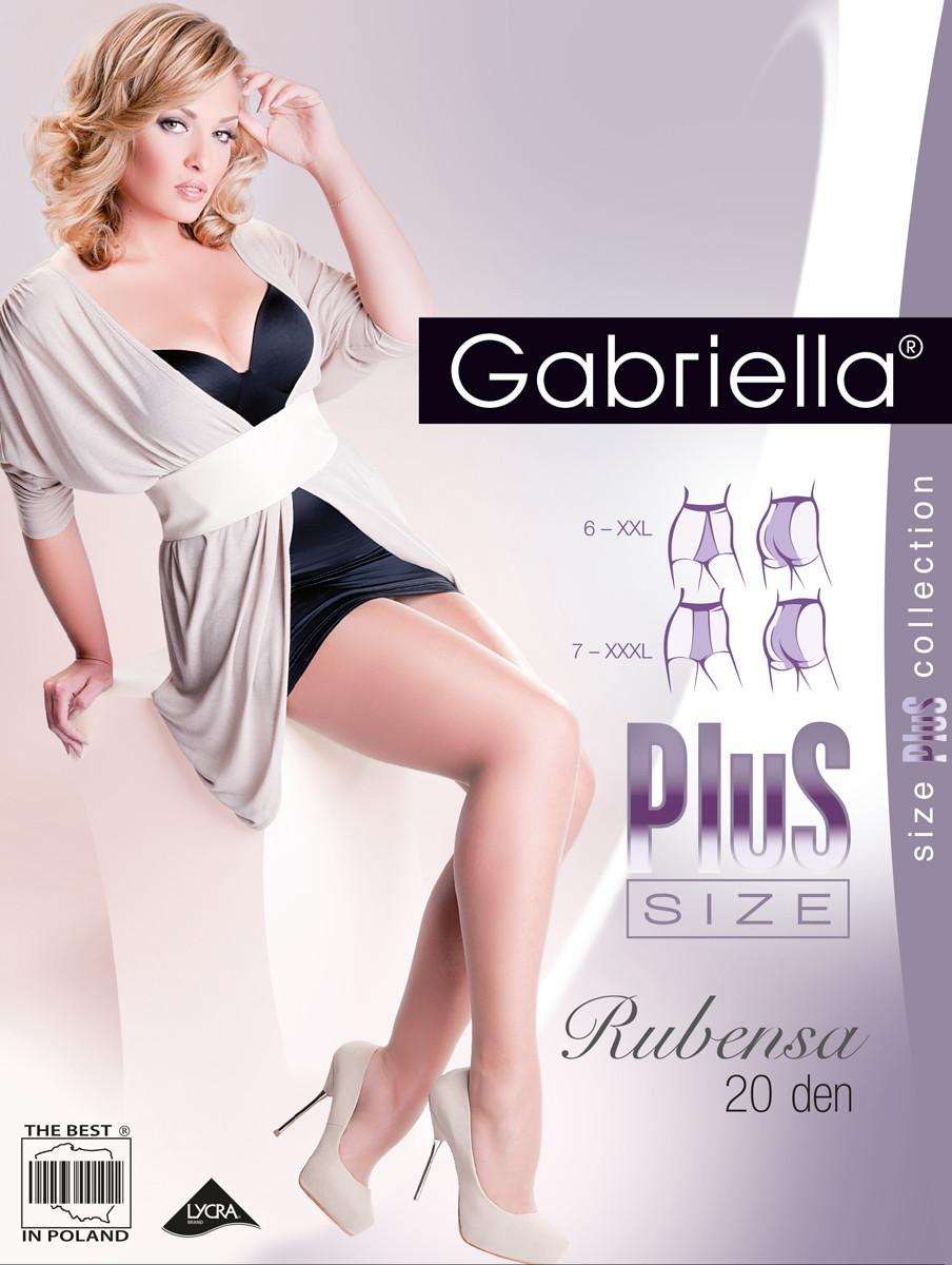Punčochové kalhoty Gabriella Rubensa Plus Size 161 6-7 20 den Barva: caramel/odstín béžové, Velikost: 7-XXXL