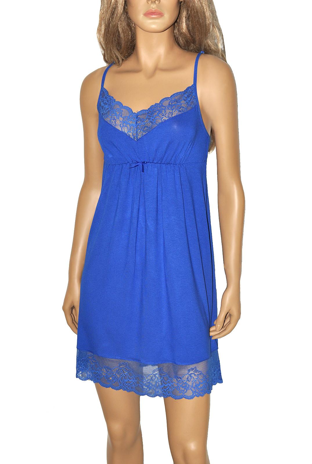 Noční košile De Lafense 348 Estelle Barva: černá, Velikost: L