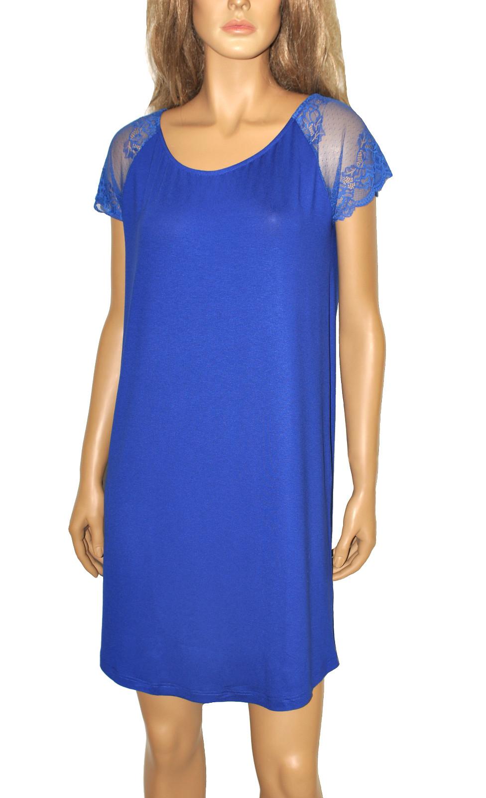 Noční košile De Lafense 349 Estelle Barva: černá, Velikost: L