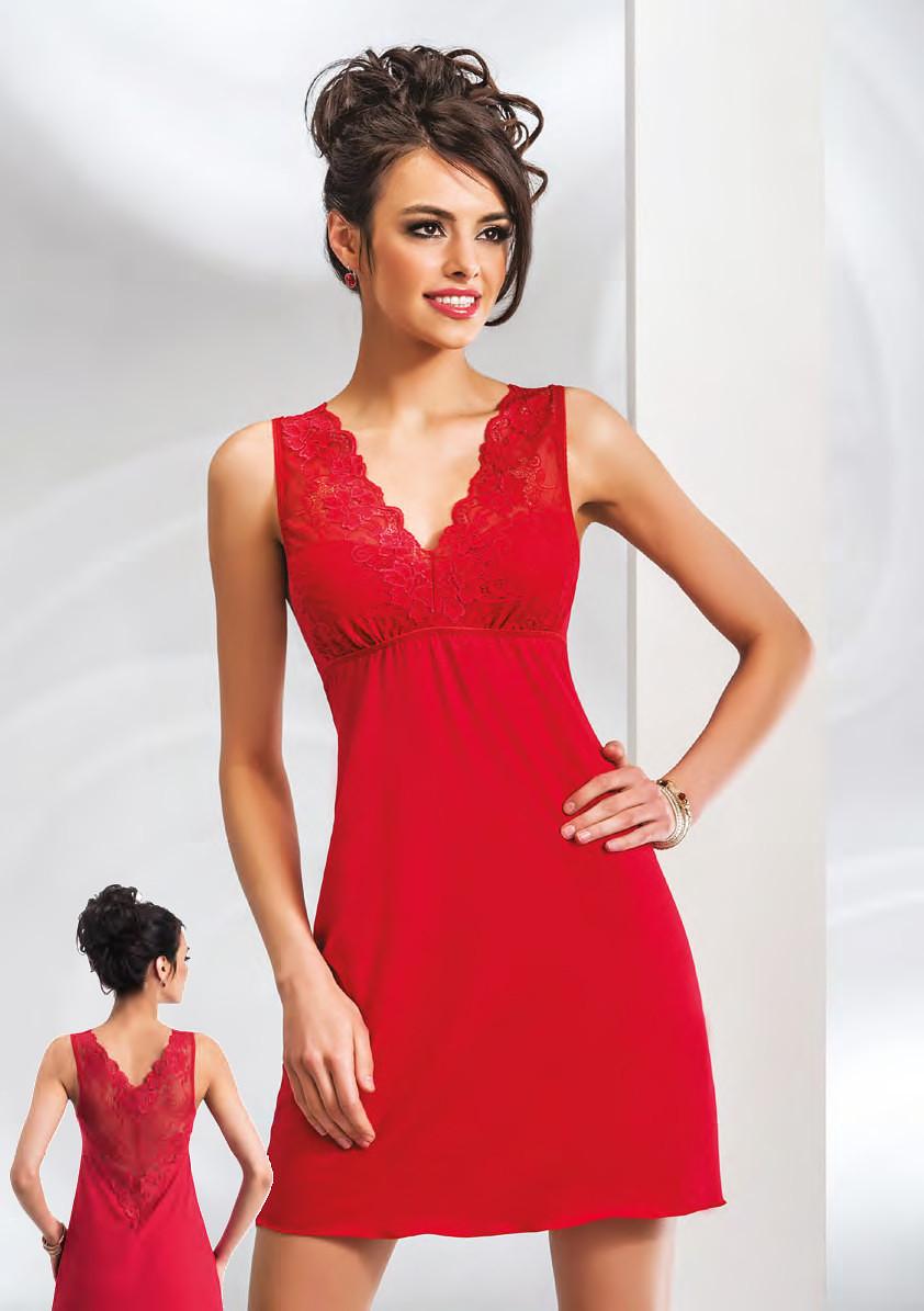 Noční košilka Donna Kristina Barva: červená, Velikost: M