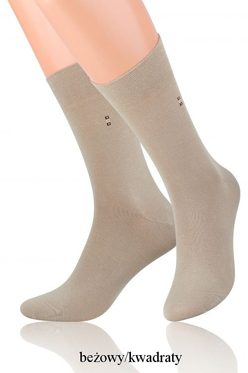 Pánské ponožky k obleku Steven art.056 Barva: béžová, Velikost: 42-44