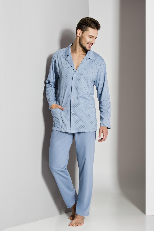 Pánské pyžamo Regina 265 dl/r M-XL '18 námořnická modrá XL