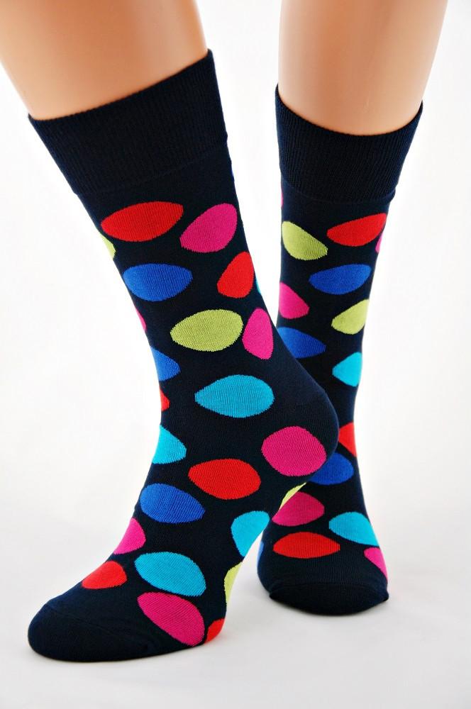 Pánske ponožky Regina Socks Bamboo 7141 čierna červená 39-42