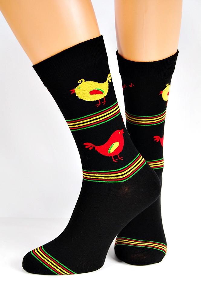 Pánske ponožky Regina Socks 7844 Avangarda Sliepky čierna 39-42