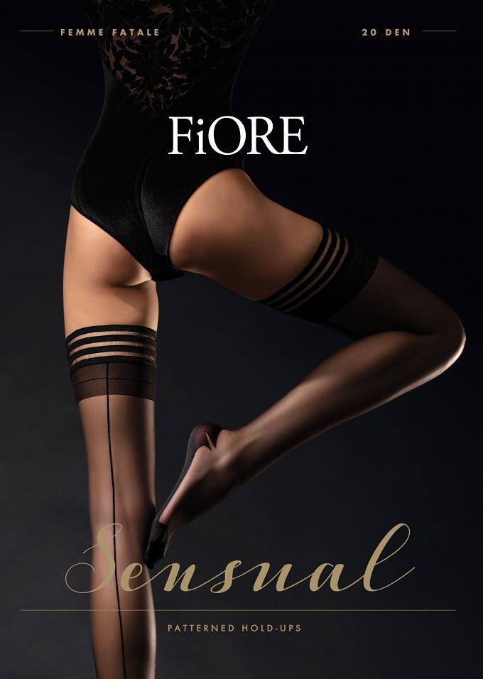 Dámské punčochy Fiore Femme Fatale O 4064 20 den černá 3-M