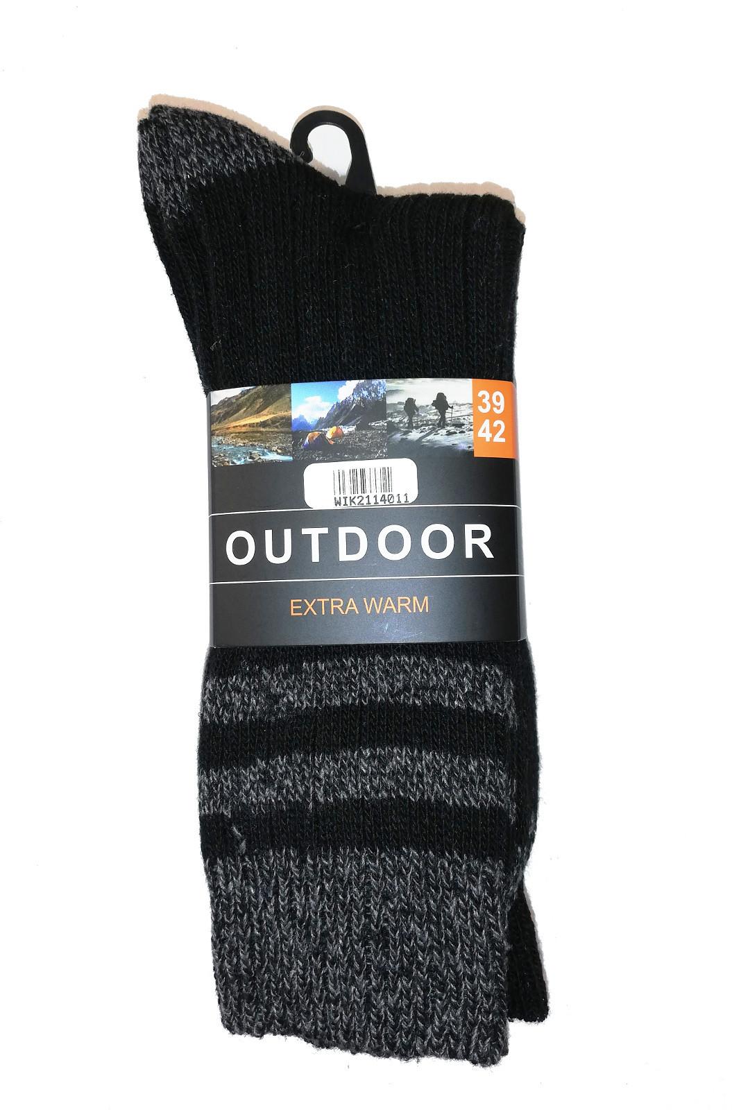 Pánske ponožky WIK Outdoor Extrawarm 21140 A'3 czarny-grafitowy 43-46