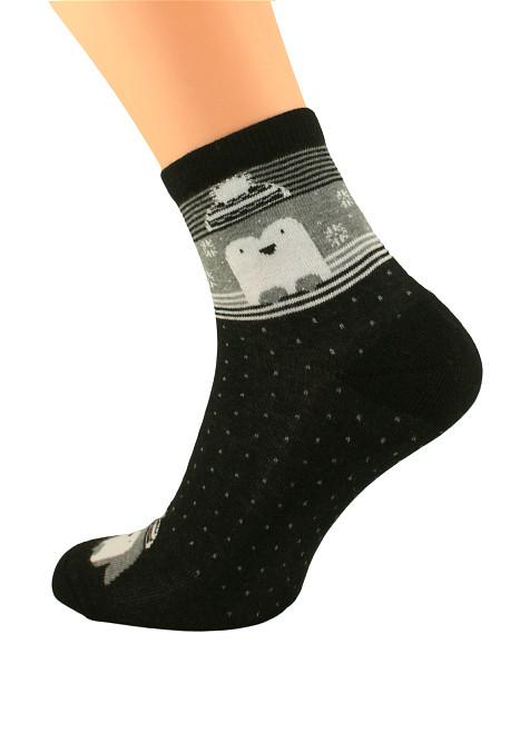 Dámské zimní ponožky Bratex Women Vzory, polofroté 051 béžová 36-38