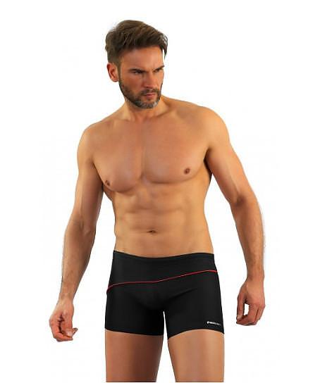 Pánské plavky - boxerky Sesto Senso 314 M-2XL černá M