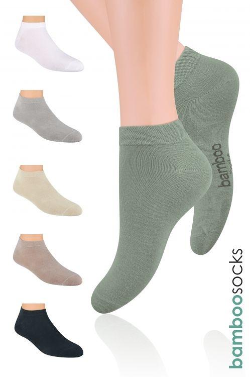 Kotníkové ponožky Steven Natural art.094 Barva: tmavě šedá, Velikost: 44-46