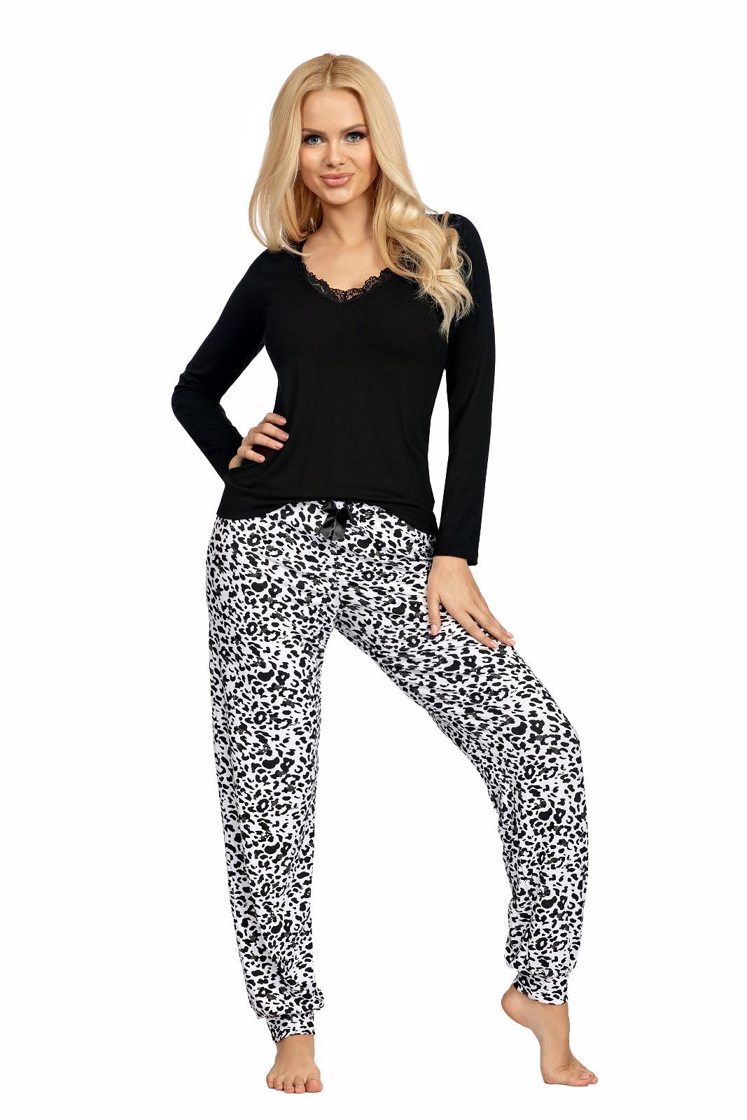 Dámske pyžamo Donna Bonnie černá xxl