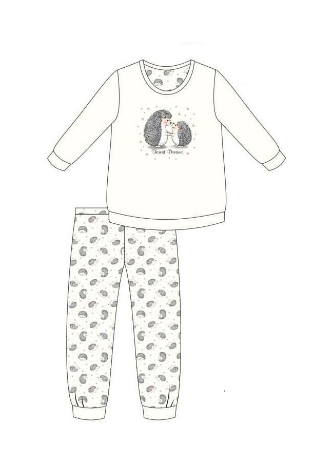 Dámske pyžamo Cornette 467/277 Forest Dreams dl / r S-2XL ecru L