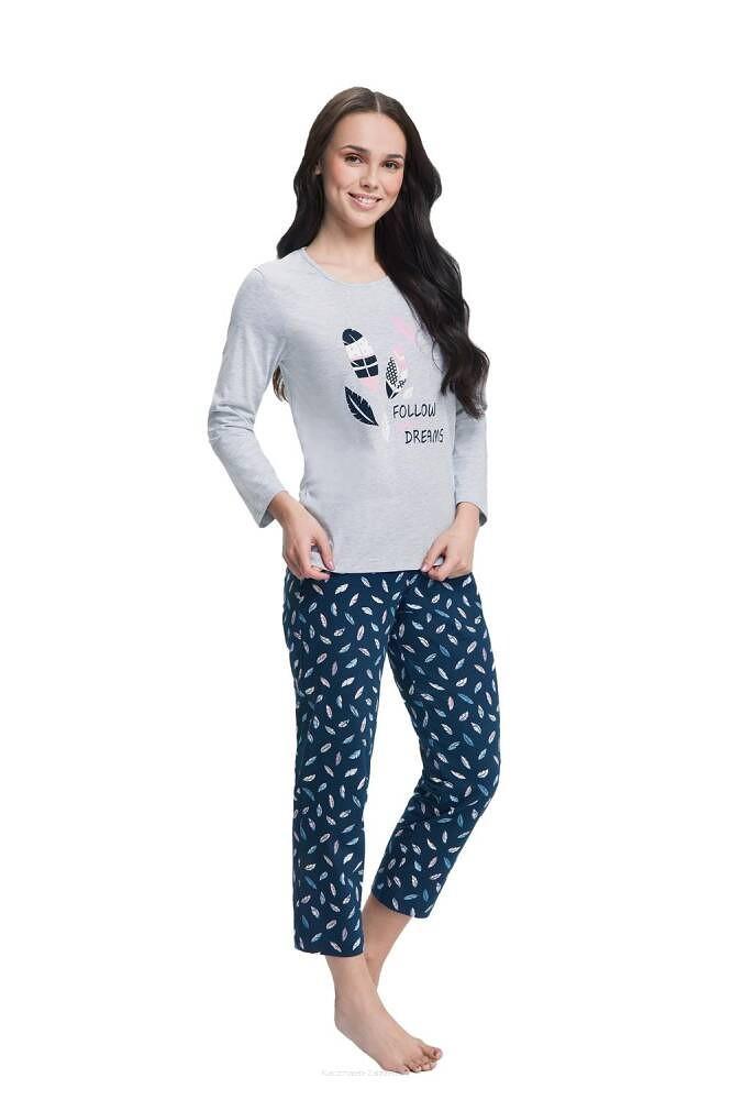 Dámske pyžamo Luna 612 7/8 3XL grey 3XL