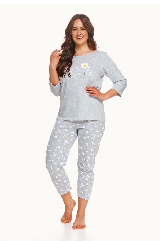 Dámske pyžamo Taro 2600 3/4 Hera 2-3XL Z'22 grafitowy xxl