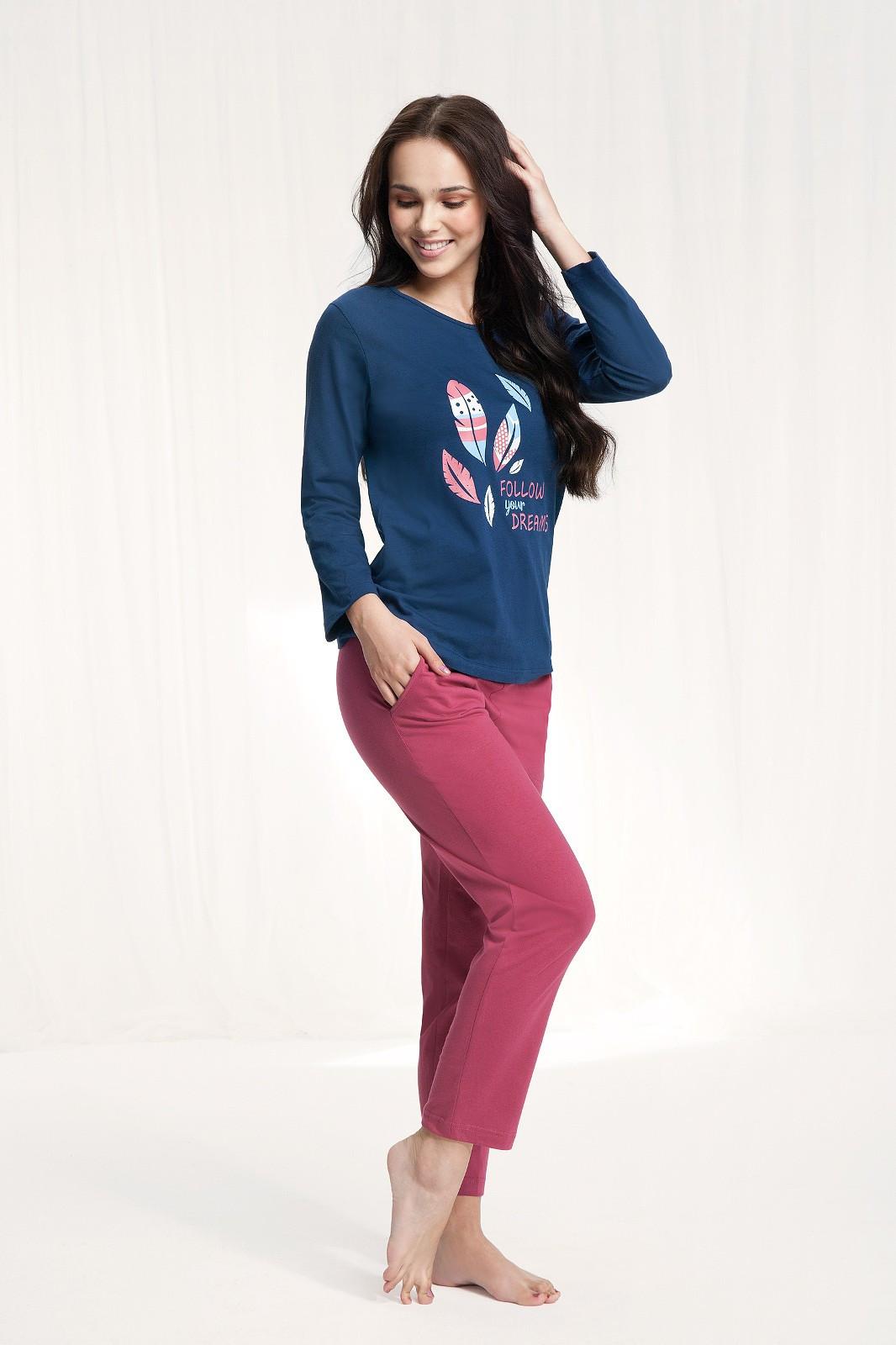 Dámske pyžamo Luna 576 w/r M-2XL wrzosowy xxl