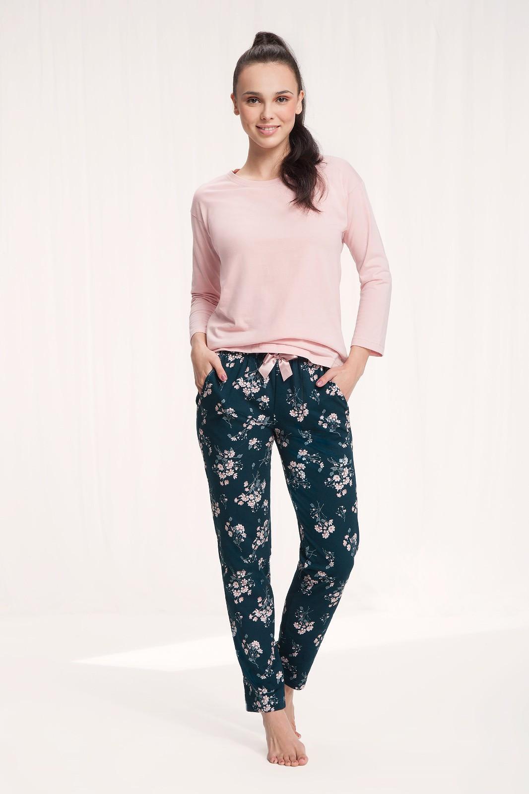 Dámske pyžamo Luna 645 w/r M-2XL růžová xxl
