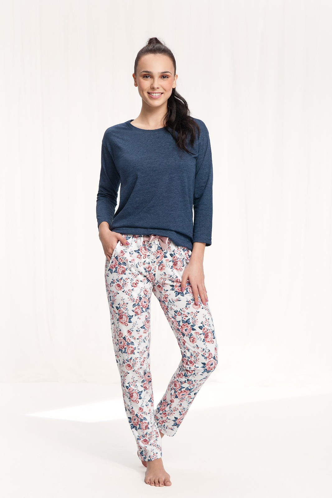 Dámske pyžamo Luna 645 w/r 3XL różany 3XL