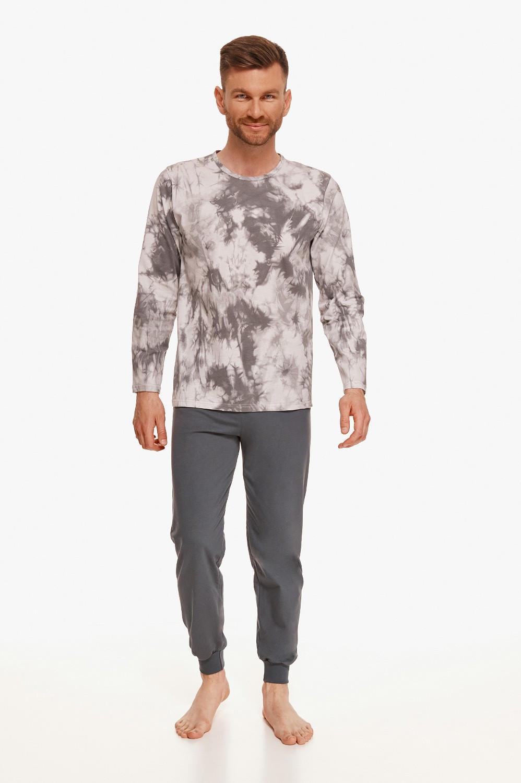 Pánske pyžamo Taro 2644 L-2XL Z'22 szary jasny L