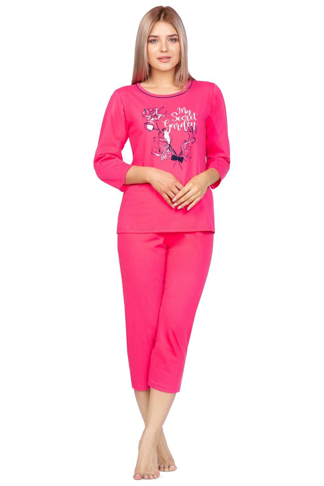 Dámske pyžamo Regina 972 3/4 2XL-4XL malina 3XL