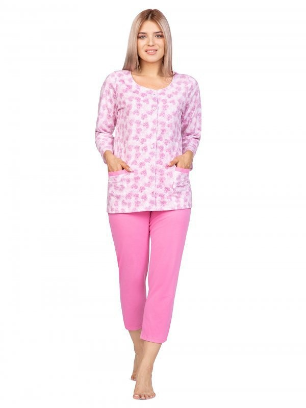 Dámske pyžamo Regina 970 3/4 2XL-3XL Modrá 3XL