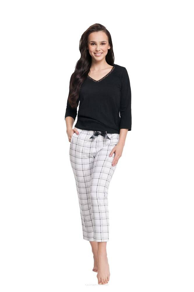 Dámske pyžamo Luna 609 3/4 3XL černá 3XL
