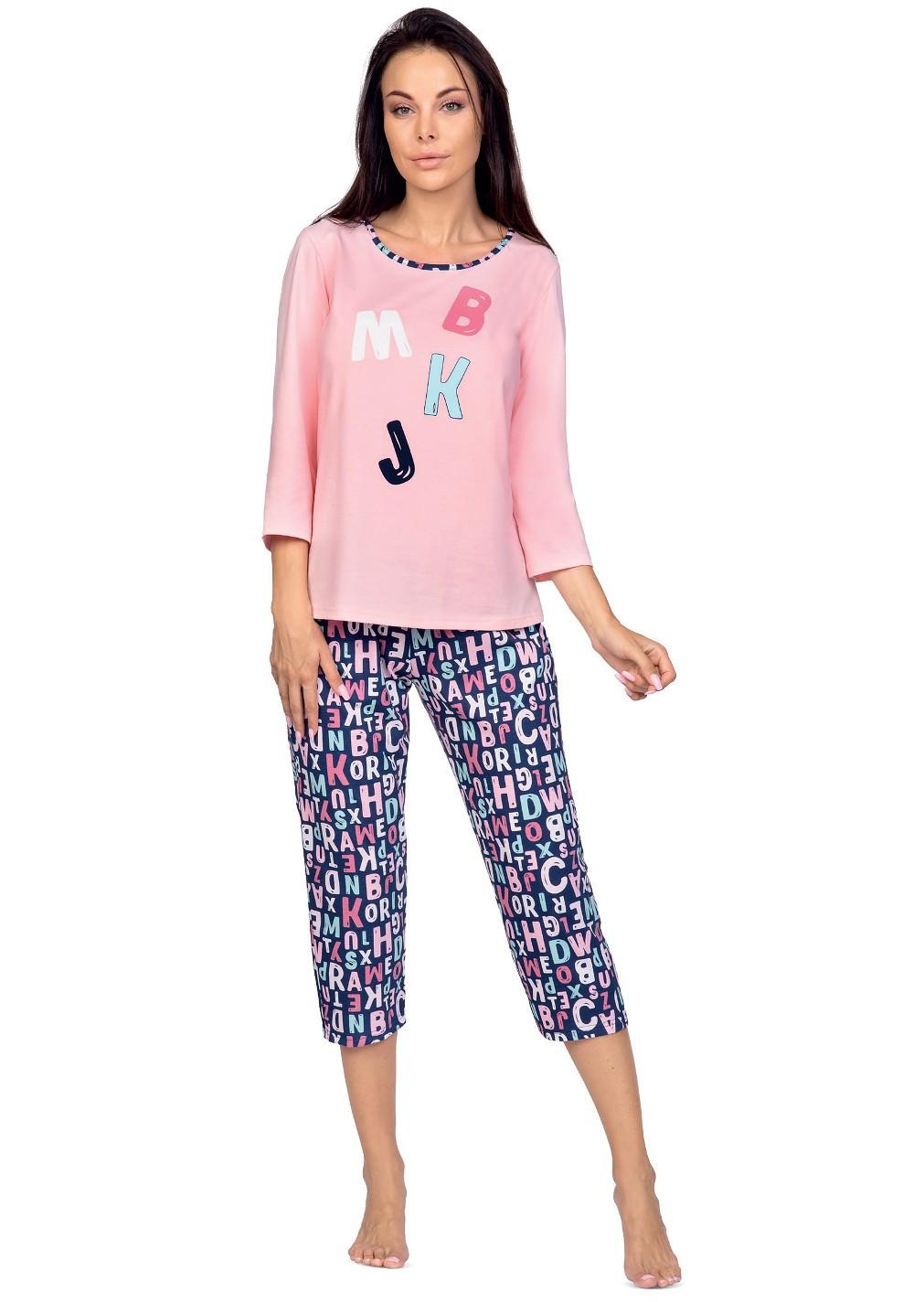 Dámske pyžamo Regina 976 3/4 2XL-3XL Modrá 3XL