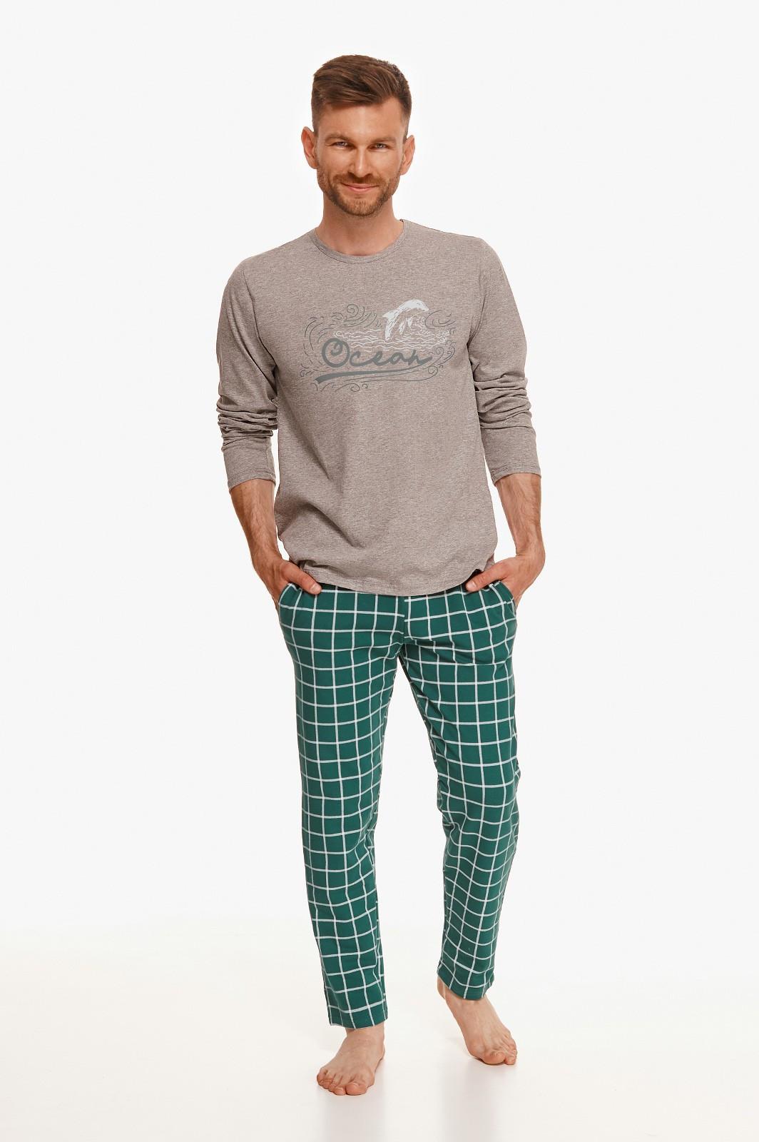 Pánske pyžamo Taro Matt 2631 L-2XL Z'22 grafitowy L