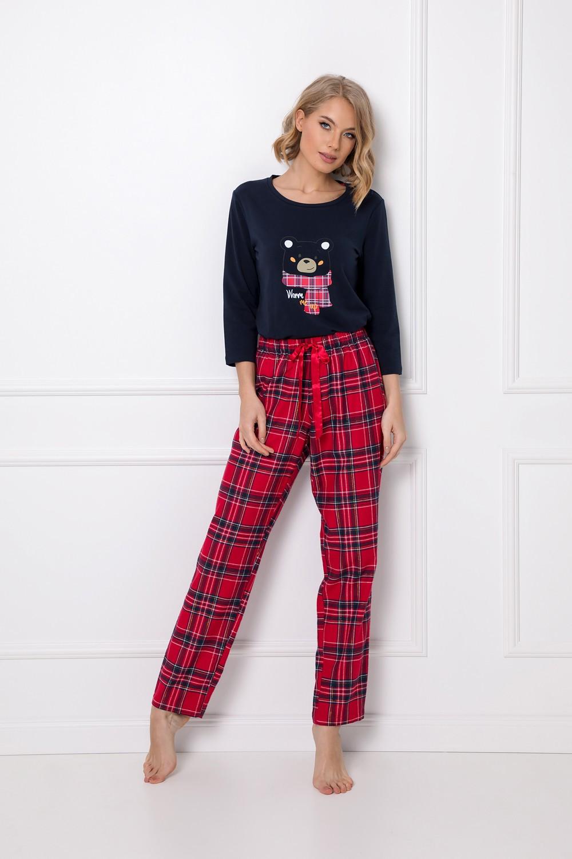 Dámske pyžamo Aruelle Darleen Long 7/8 XS-2XL navy-red xxl