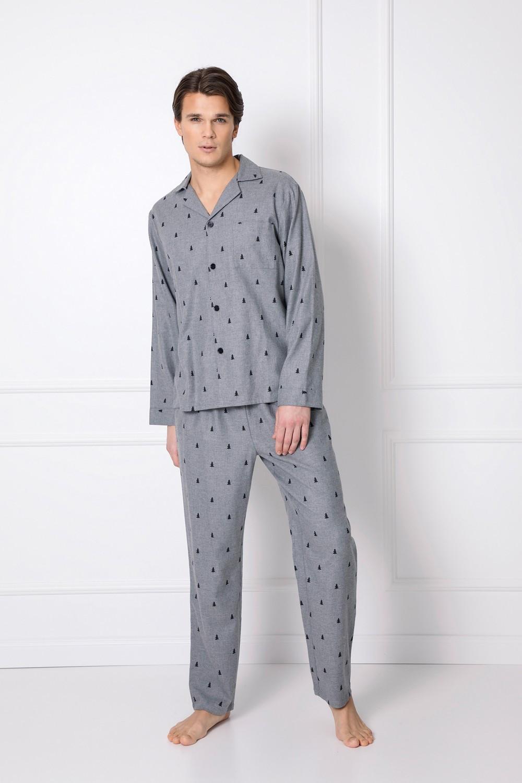 Pánske pyžamo Aruelle Elis Long S-2XL šedá melanž L