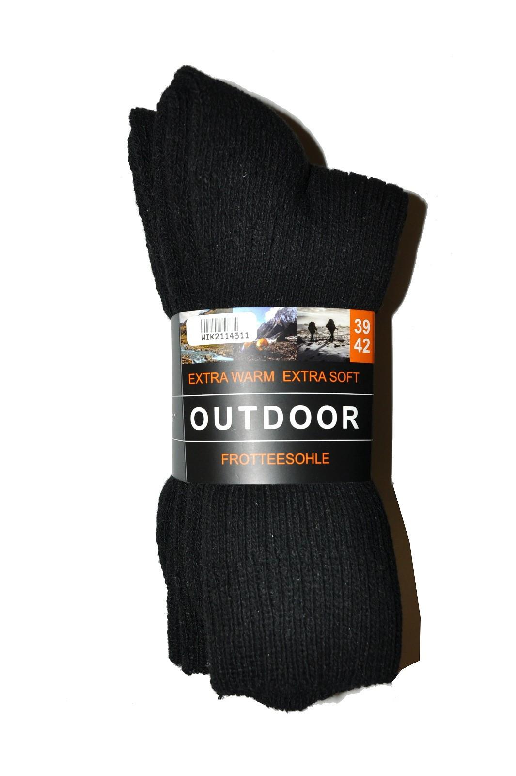 Pánske ponožky WIK 21145 Outdoor Extra Warm A'3 czarne 39-42
