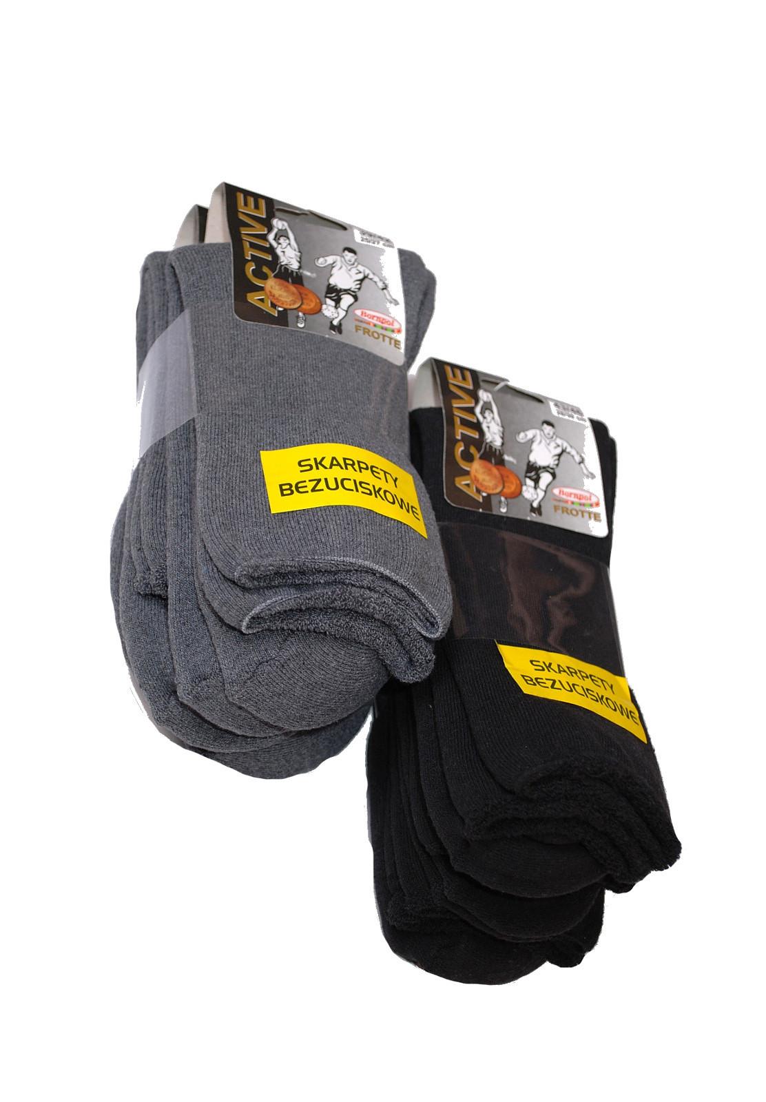Netlačící pánske ponožky Bornpol Active froté A'3 šedá 43-46