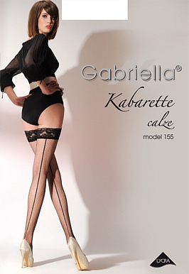 Punčochy Gabriella kabaretka 155 Barva: černá, Velikost: 3/4-M/L