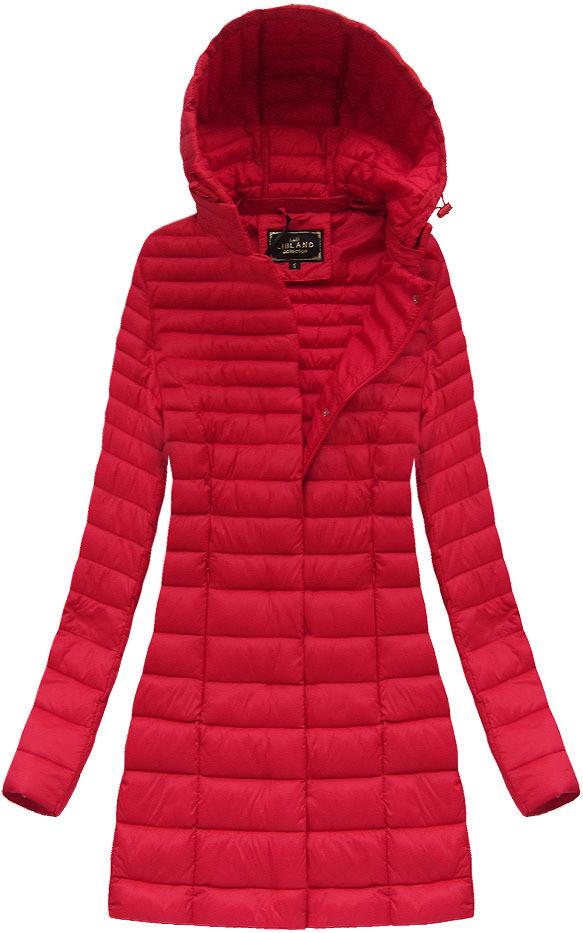 Červená dámská delší bunda (7240) červená S (36)