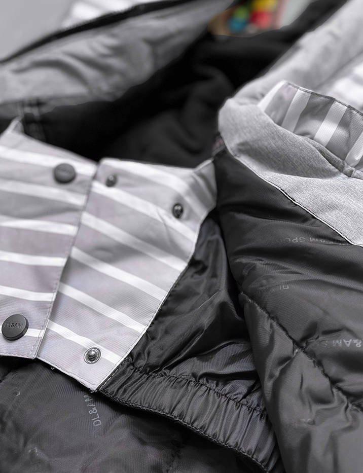Šedá dámská zimní bunda s membránou (W191) šedá S (36)