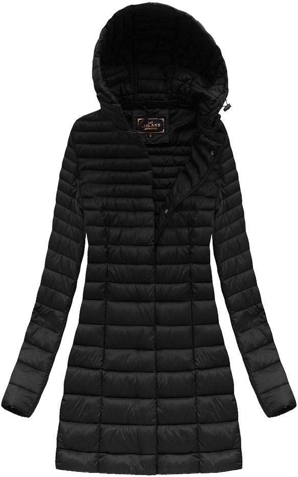 Černá dámská delší bunda (7240) černá S (36)