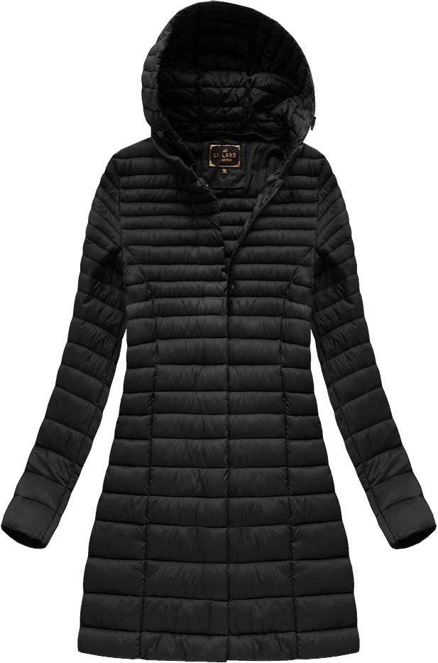 Černá dámská delší bunda (7240BIG) černá 46