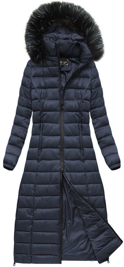 Dámský prošívaný kabát 7758 - LIBLAND tmavě modrá L 0c672ffdf5a