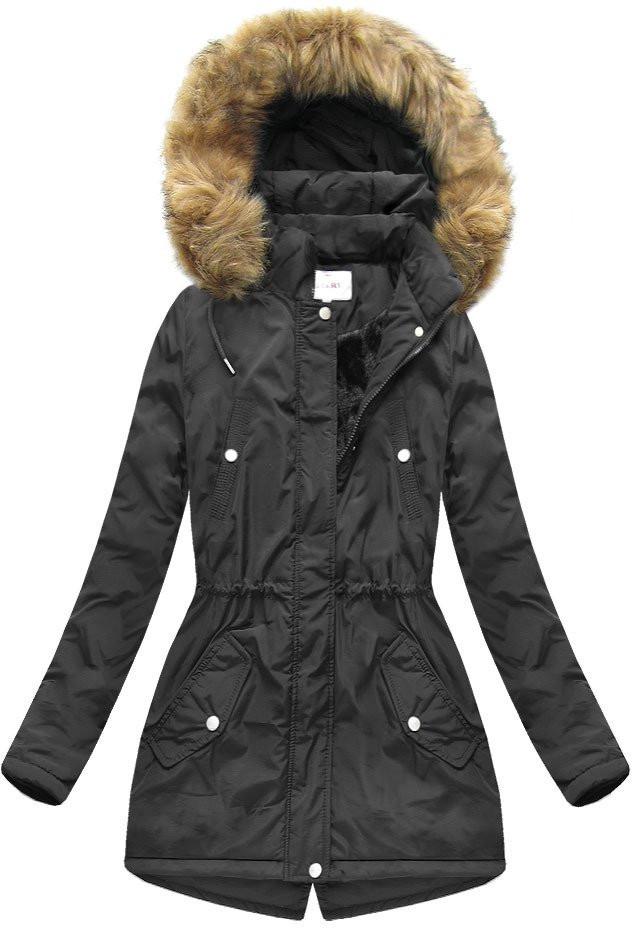 Černá dámská zimní bunda (7312) Barva  černá b1636827515