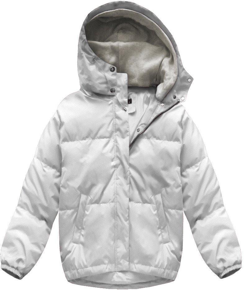 Bílá dámská oversizová bunda (7113) bílá S (36) ef65628bc21