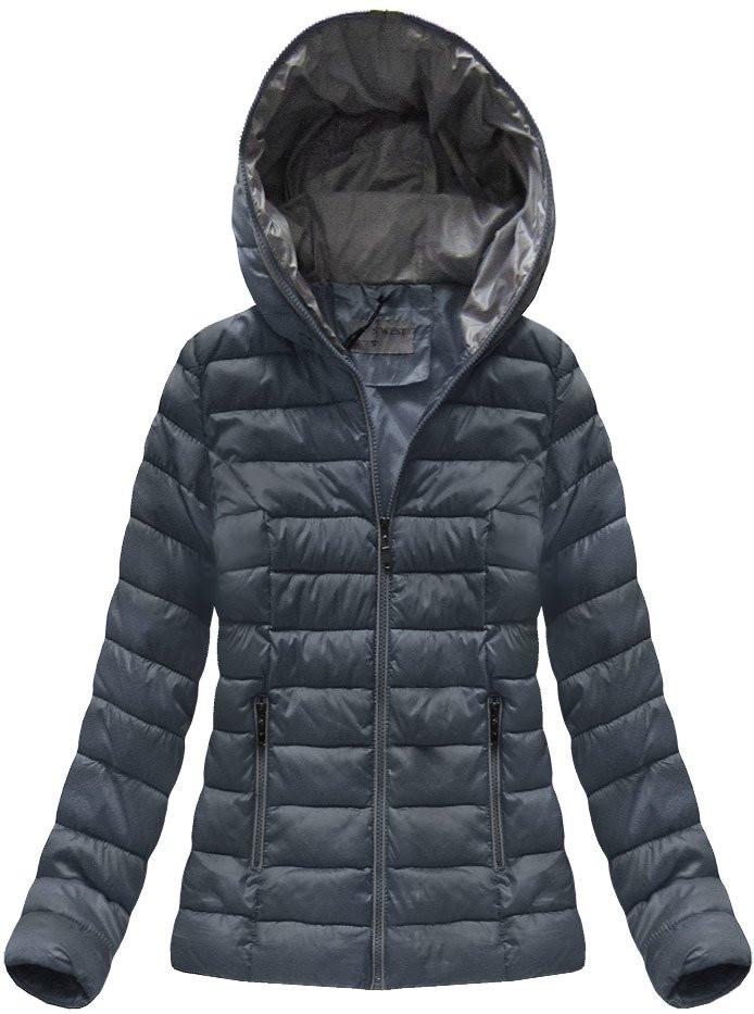 Tmavo modrá dámska prechodová bunda (B7013) tmavěmodrá S (36)