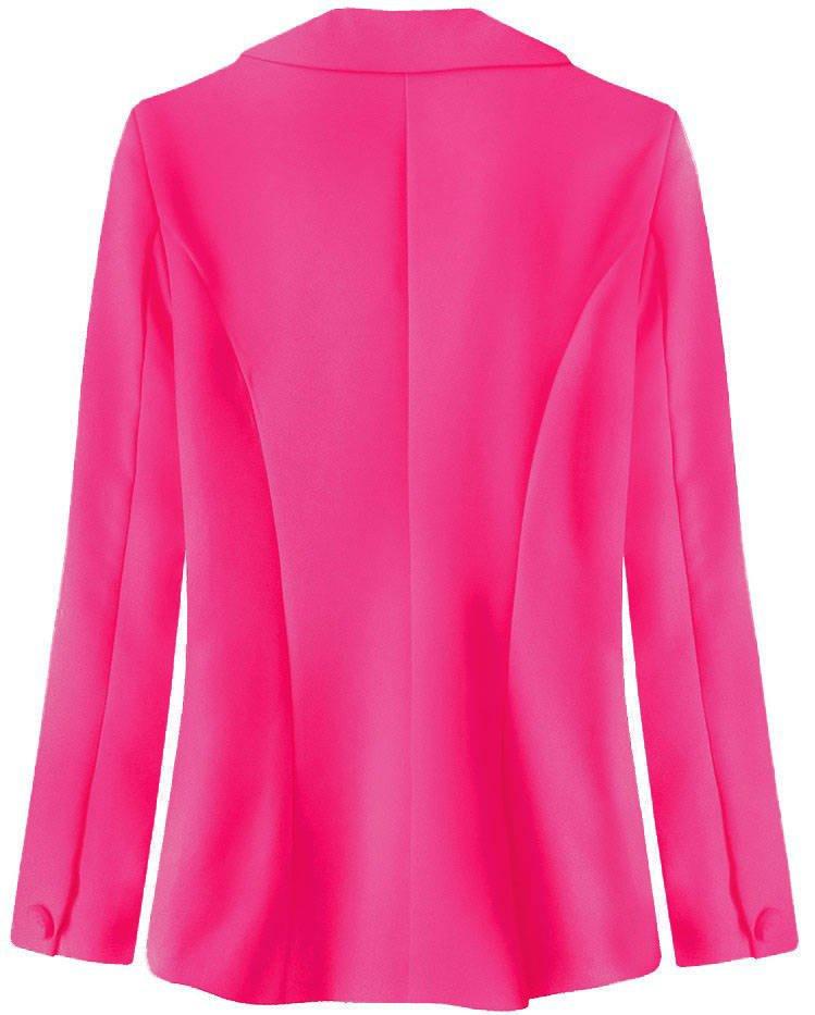 Klasické sako v neonově růžové barvě (6783) růžová S (36)