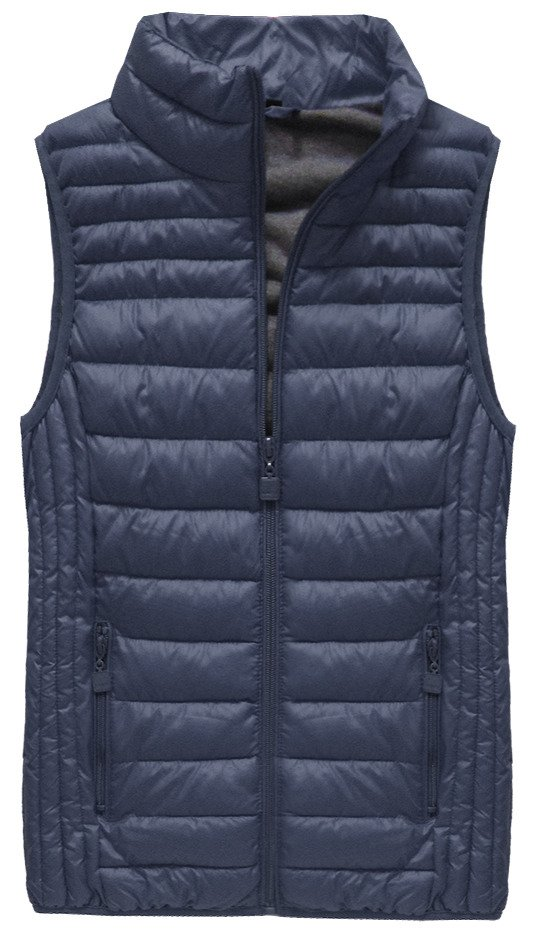 Tmavě modrá prošívaná vesta (B2608-30) tmavěmodrá XL (42)
