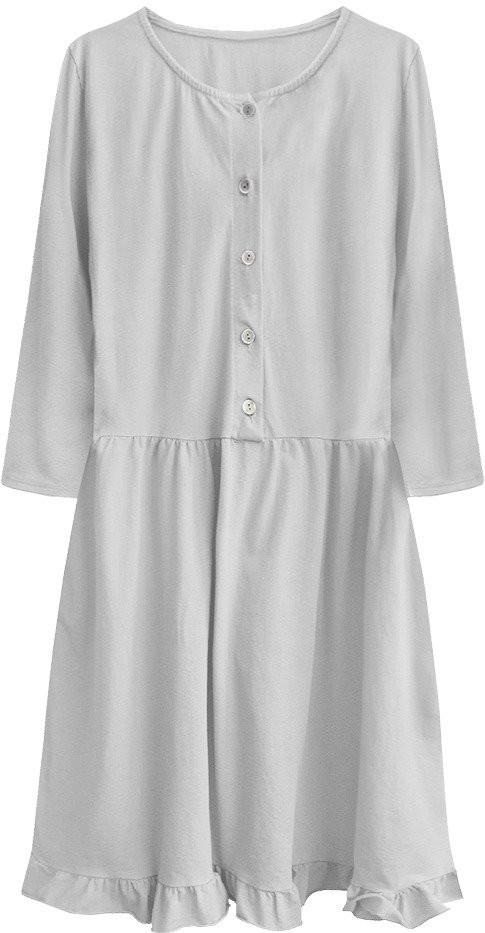 Šedé dámske bavlnené oversize šaty (305ART) šedá ONE SIZE
