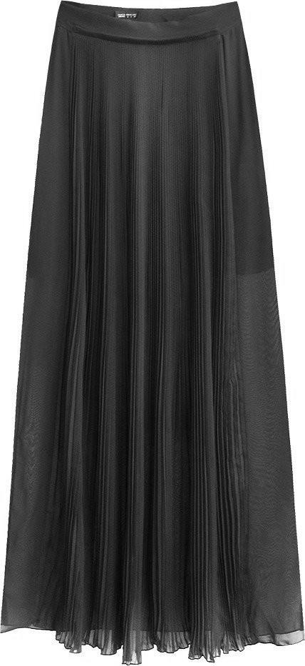 Dámska sukňa v grafitovej farbe s dĺžkou maxi (291ART) tmavě šedá S (36)
