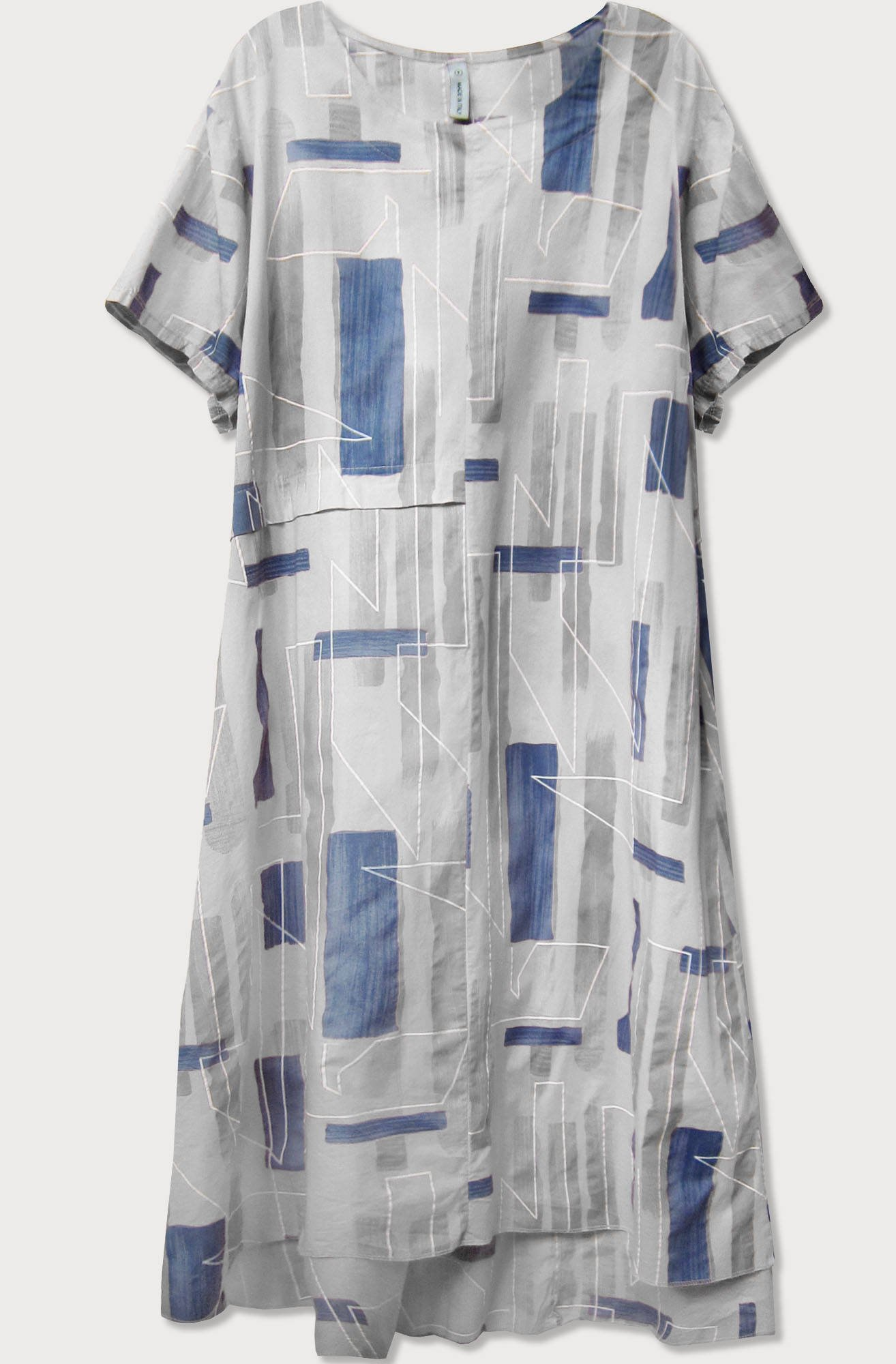Šedé bavlnené dámske oversize šaty (340ART) šedá jedna velikost